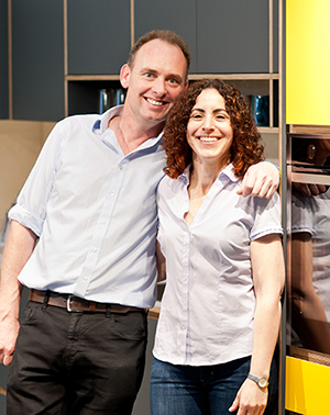 Doug & Keren. The husband and wife team who design and create our beautiful bespoke plywood kitchens