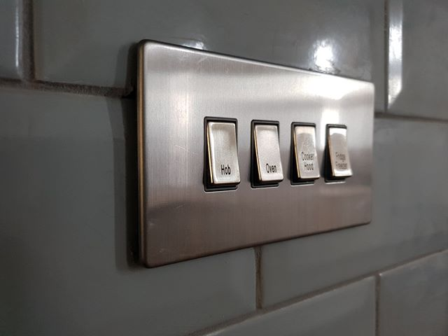 Add finishing touches with brushed stainless steel switches.