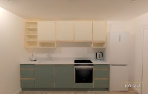 The cost of a small plywood kitchen from Koivu