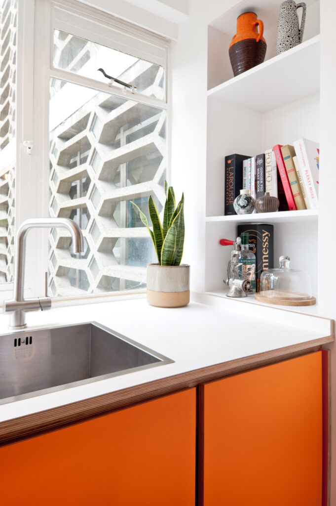 A Koivu kitchen in an architecturally designed space.