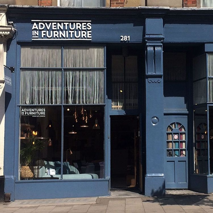 Adventures in Furniture store front - sustainable interiors company
